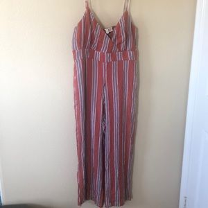 Pants - 2 for $15 Striped romper -new